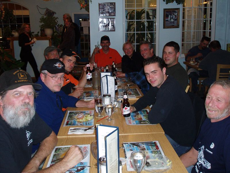 Dinner with the guys in Lillooet