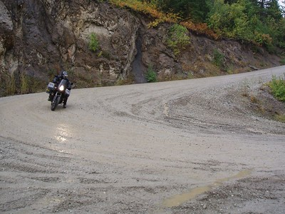 We had a lot of rain throughout the 3 days of riding making for slippery conditions.