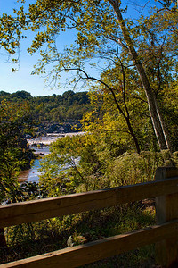 autumn view of the Potomac River along the C & O Canal