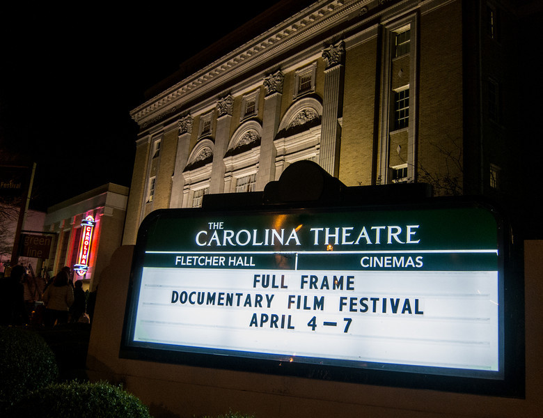 00aFavorite 20130406 (2154) Carolina Theatre sign for Full Frame Film Festival (underway) nt
