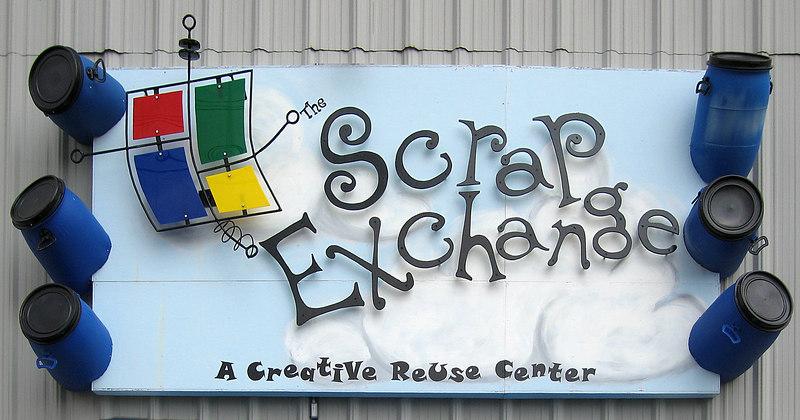 Scrap Exchange sign [perspective corrected]