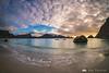 Sunset at Haukland beach