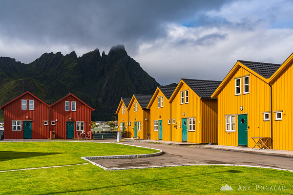 Colorful houses in Ballstad