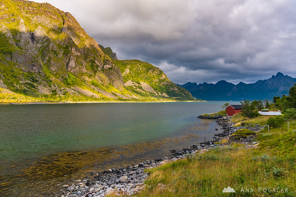 Lofoten on a stormy and sunny day