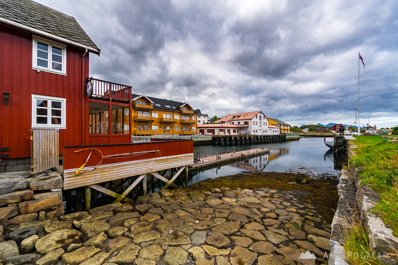 Kabelvåg on a cloudy day