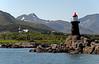 Gravdal church and lighthouse (Lofoten Islands), 6 June 2008