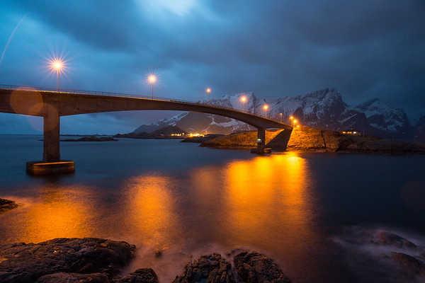 Bridge, village Hamnoy, Lofoten, Norway, 2015