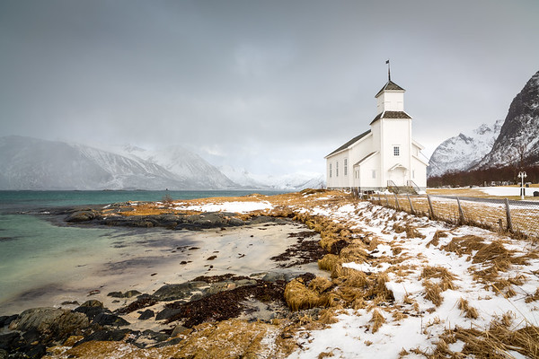 Gimsoy church, Gimsoy island, Lofoten, Norway, 2015