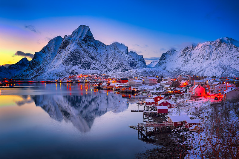 Evening at Reine, Lofoten Islands