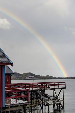Rainbow Over Tinde Bay