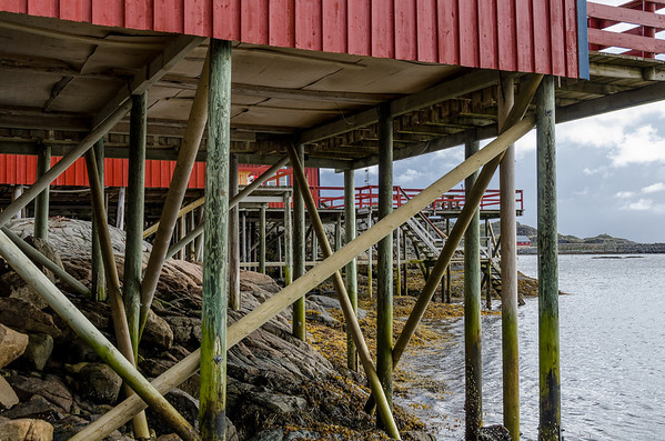 The Rorbuer - Fishermens Cabins Built on Stilts