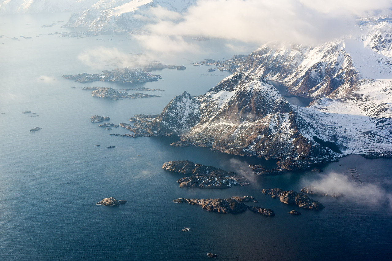 Aerial View Lofoten Islands, Norway