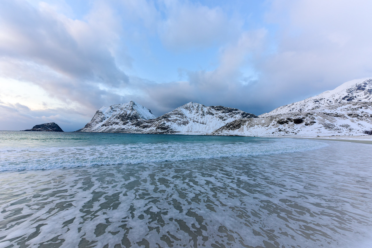 Haukland Beach, Lofoten Islands, Norway
