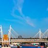 Hungerford and Golden Jubilee Bridges