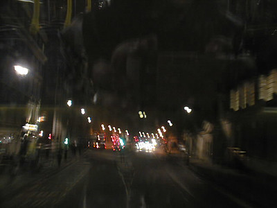 Night bus in London - I was a bit drunk and so was my camera