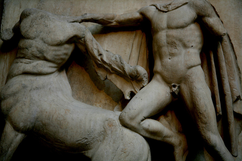 Metope from the Parthenon.