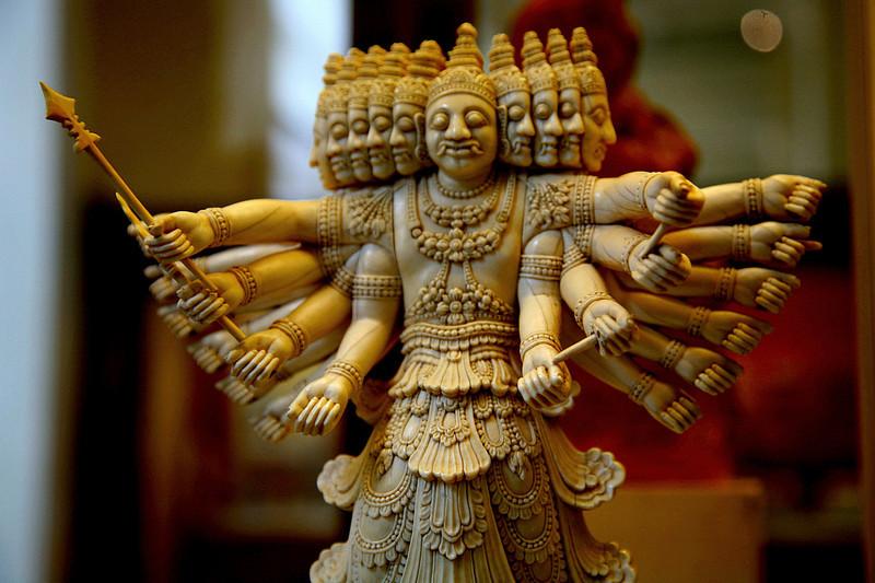Ivory bodhisattva from Sri Lanka.