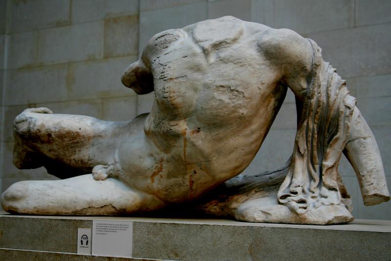 Pediment of the Parthenon, British Museum.