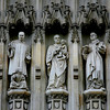 Christian martyrs on Abbey facade, including Martin Luther King.