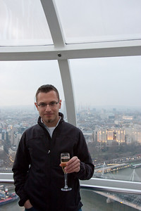 Champagne in the London Eye