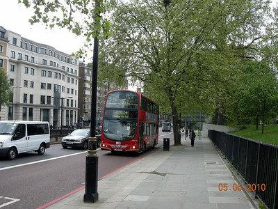 Newer double decker bus