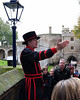 A Beefeater Guide in the Tower of London.