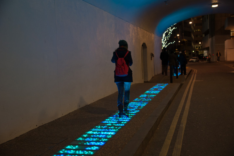 Pavement Lights Under London  Bridge