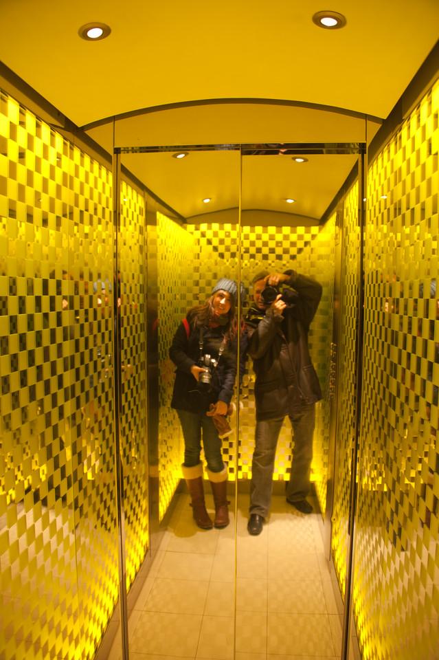 Elevator at One Aldwych Hotel