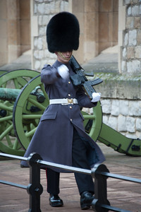 Gaurd - Waterloo Barracks, Jewel House, Tower of London