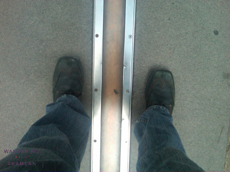 One foot east, one west, at the Royal Observatory in Greenwich
