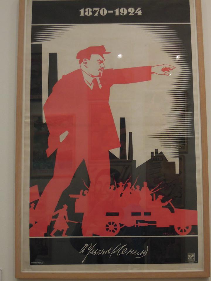 London: Soviet progaganda poster in Tate Modern