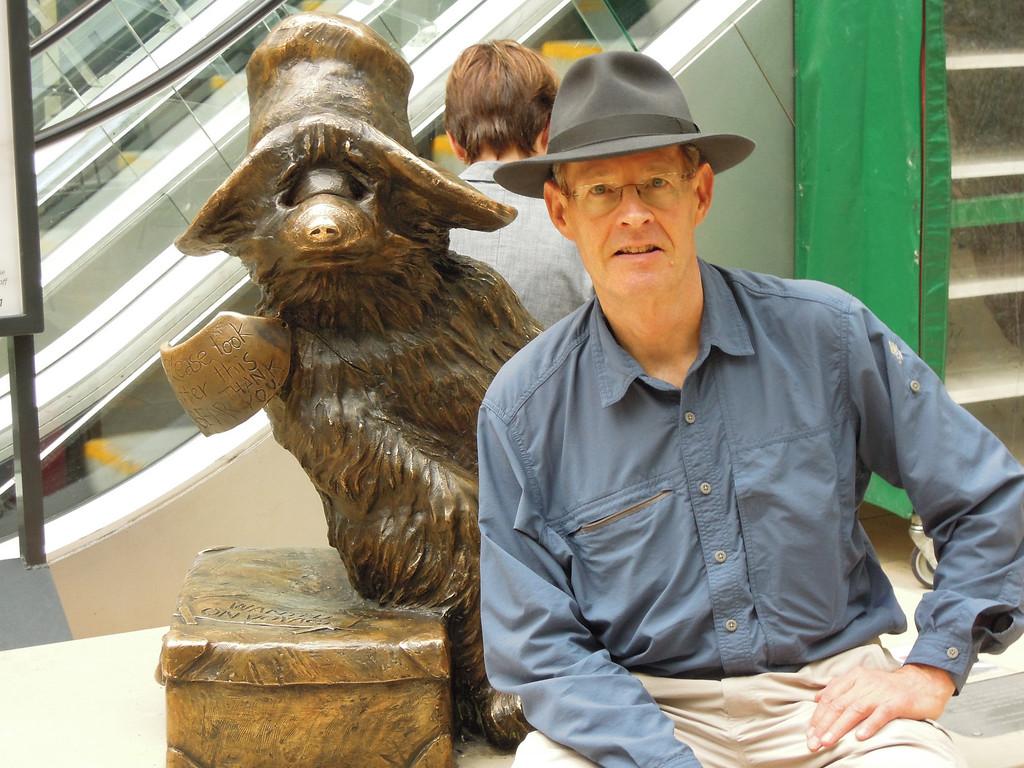 London: JG with Paddington Bear