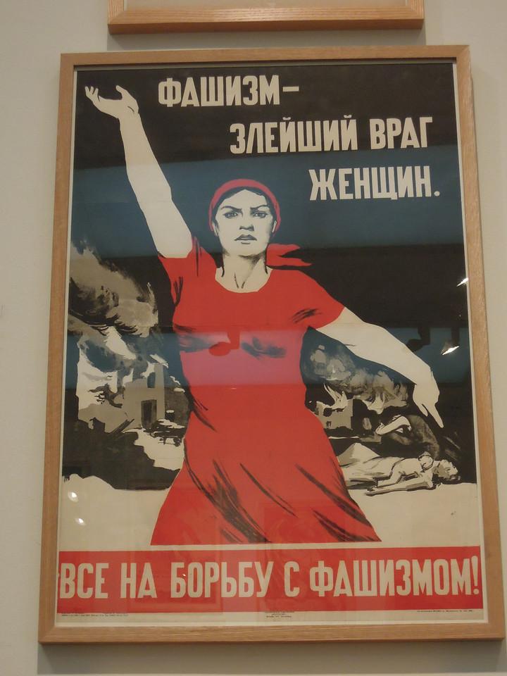 London: Soviet progaganda poster. Tate Modern
