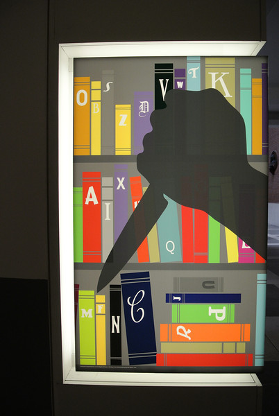 "Poster for ""A to Z Murder in the Library""<br /> Exhibit of crime fiction at the British Library"