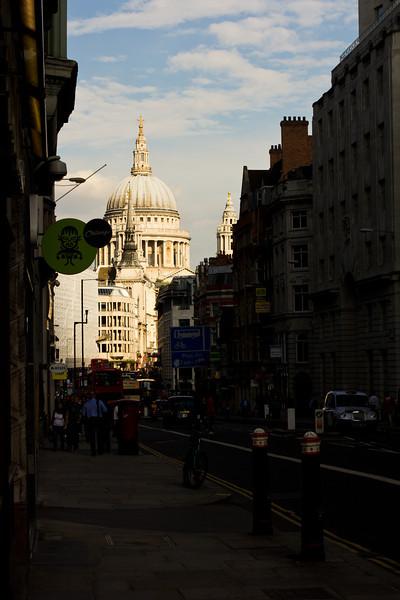 st.pauls view from fleet street