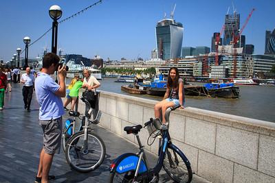 "Snapshot with ""Boris Bikes"""