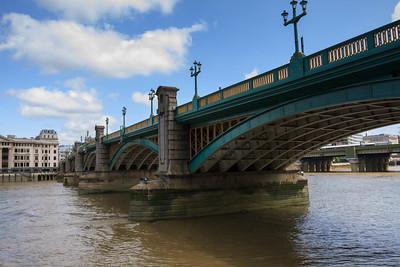 Southwark Bridge from Bankside