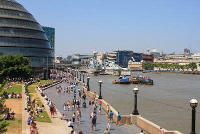 The Thames, Potters Fields Park and London City Hall
