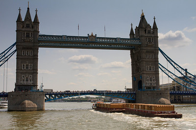 Tower Bridge and Tugboat