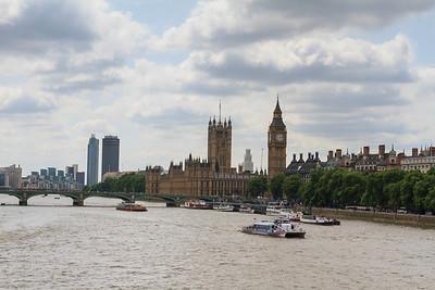 Westminster from the Jubilee Bridge