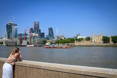 Overlooking the Thames