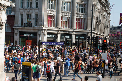 Oxford Circus Crowds