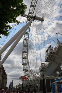 Below the London Eye