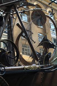 Steampunk Sculpture Detail