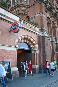 Tube Station Entrance, St Pancras