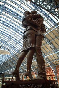 St Pancras Statue