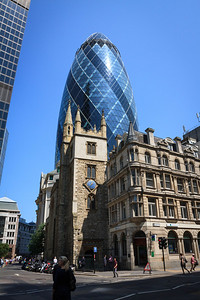 The Gherkin from Leadenhall Street
