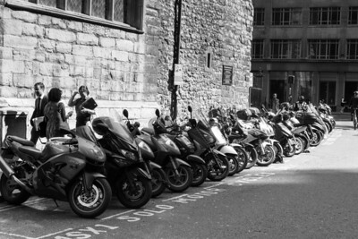 Motorcycle Parking in The CIty