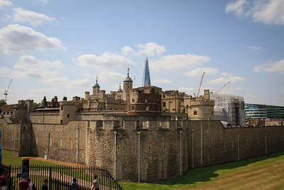The Tower of London, the Shard
