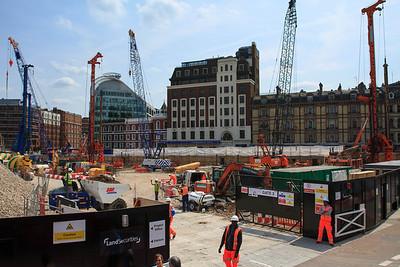 Construction Near Victoria Station